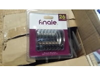 26mm chrome Finale curtain rings, boxes of 60