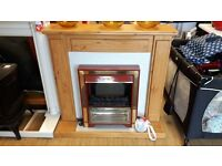 Modern electric fire place
