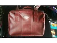 Vintage leather suitcase set