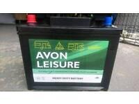 Avon 12v 75ah leisure battery for caravans, motorhomes, boats