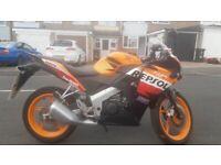 Honda CBR-125R Repsol motorcycle