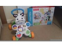 Fisher price baby zebra walker as new with box