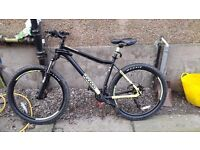 Voodoo bantu adult bike, 1 month old purchased for £450 halfords, used once have no space for it