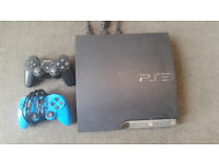 ps3 with 2 controlers and games