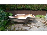 Large used fibreglass pond