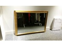 Traditional gold painted wooden wall mirror