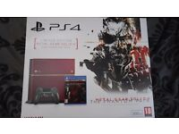 PS4 500GB Limited Edition Metal Gear Solid V console with 4 games