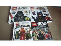 4 lego books with characters