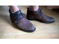 Ecco brown oiled new buck leather size 9, great formal shoes