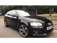 Audi A3 s line black edition 2.0 tdi 2012 - low miles - £30 road tax - bose audio