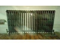 Large cast iron radiator, dark grey, used, 4 columns, 24 sections, 153cm long, 82cm high, 16cm wide