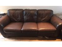 3 seat Leather sofa **Delivery available