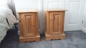 Pair of wood bedside tables