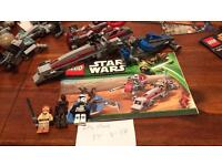 Retired Lego Star Wars sets , complete with figs and instructions no box