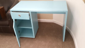 Desk - pale blue/turquoise, suitable for child or teenager