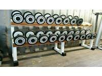 Techno gym dumbbell weight set and rack commercial gym fitness equipment