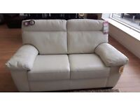 Brand new 2seater cream leather sofa. Offers welcome!!!