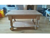 Solid Waxed Pine Coffee Table