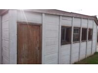 FREE TO COLLECT CONCRETE SECTIONAL GARAGE