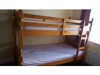 Hardly used oak bunk bed