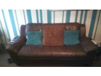 two sofas for sale 3 setter brown leather sofa and two sofa setter brown leather