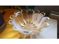 Dartington crystal sunflower bowl