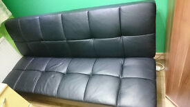 Black 3-4 seater sofa bed
