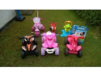 Kids toy bundle. All items in excellent condition. some not used. Quad bikes, jumping frog etc