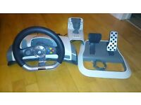 Official Xbox 360 Force Feedback Steering Wheel, Pedals & Clamp