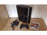 Sony PlayStation 3 Black Console with Controller, Fifa 2008