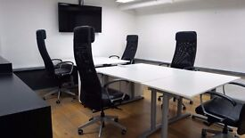Desks available in a shared work space