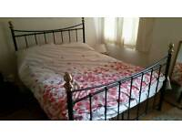 Double bed and single bed - cast iron style frames and matresses