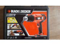 Black & Decker Heatgun and accessories. BNIB