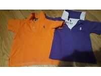 Genuine 2 x Ralph Lauren for 2 years boy's polo shirts....