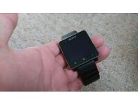 Sony smartwatch 2 black with black metal strap, Android wear nfc bluetooth