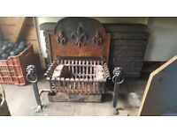 Open Fire basket and surround - used