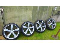 """19"""" Rotor style alloy wheels & tyres"""