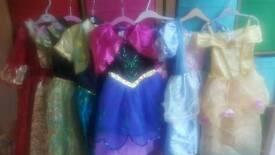 Princess dresses size 3-4 years willing split
