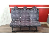 Triple van seats with sear belts mercedes sprinter