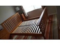 Superb solid wood double bed frame