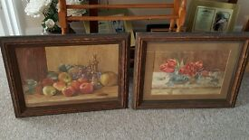 Pair of beautiful (1930's?) 'still life' water colours by 'Marion V Wyatt'