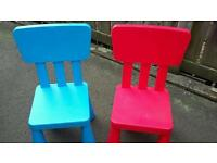 Kids plastic chairs