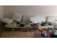 FREE pallet sofa! Take the pallets or just the cushions! BS7