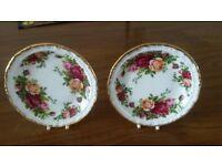 Royal Albert Old Country Roses China Display Plates/Coasters