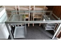 glass office or computer table