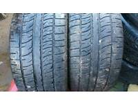 2X 295 30 22 PIRELLI MATCHING TYRES 4MM X5 BMW ALLOY WHEELS