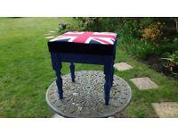 Union Jack dressing table stool