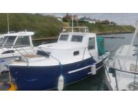 Boat for sale, unfinished project. Colvic Fisher 20.......pics and video