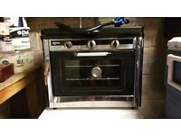 GAS CAMPING OVEN WITH TWO BURNER TOP