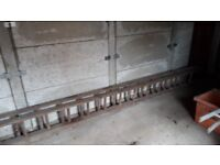 Vintage wooden 2 section step ladders for sale